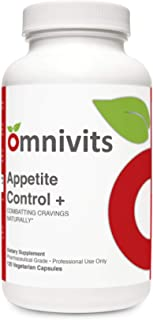 Omnivits Appetite Control + | Crave Control Supplement with L-Tyrosine, 5-HTP for Serotonin, Chromium | Supports Healthy W...