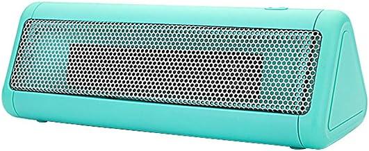 HBHHB 300W Calefactor Pequeno 2 Modos De contra Viento Poco Ruido Bajo Consumo De Energía Doble Protección De Seguridad para Cuarto/Baño/Oficina 260X90x85mm,Verde