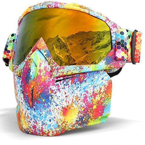 Lameda Motormasker voor heren, veiligheidsbril, voor motorfiets, skibril, snowboardbril, motorbril, uv-bescherming Meerkleurig - rode brillen