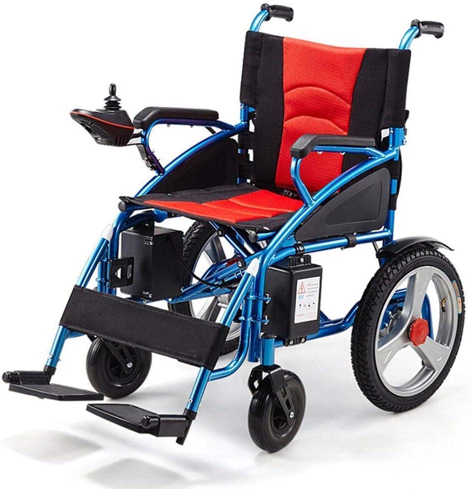 KAD Silla de ruedas eléctrica Sillas de ruedas eléctricas ligeras plegables - con batería de litio de 20 A, para personas mayores y discapacitadas Silla de ruedas inteligente automática de c