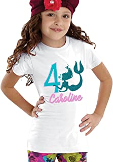 personalized mermaid birthday shirt