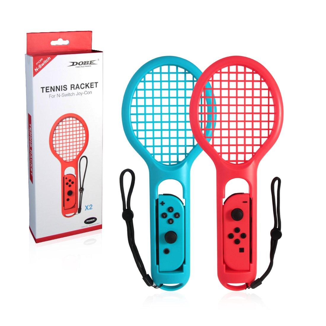 Mecotech Raqueta de Tenis para Nintendo Switch, 2 Pcs Raquetas de Tenis Joy-con para Nintendo Switch, Perfecto para Juegos Mario Tennis Aces y Los Juegos de Raqueta: Amazon.es: Juguetes y juegos