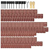 345pcs Sanding Drums for Drum Sander Kit with 330pcs Sanding Band Sleeves 12pcs Drum Mandrels 2pcs Self-Tightening Drill Chuck 1 pcs Combination Wrenc for Dremel Rotary Tool