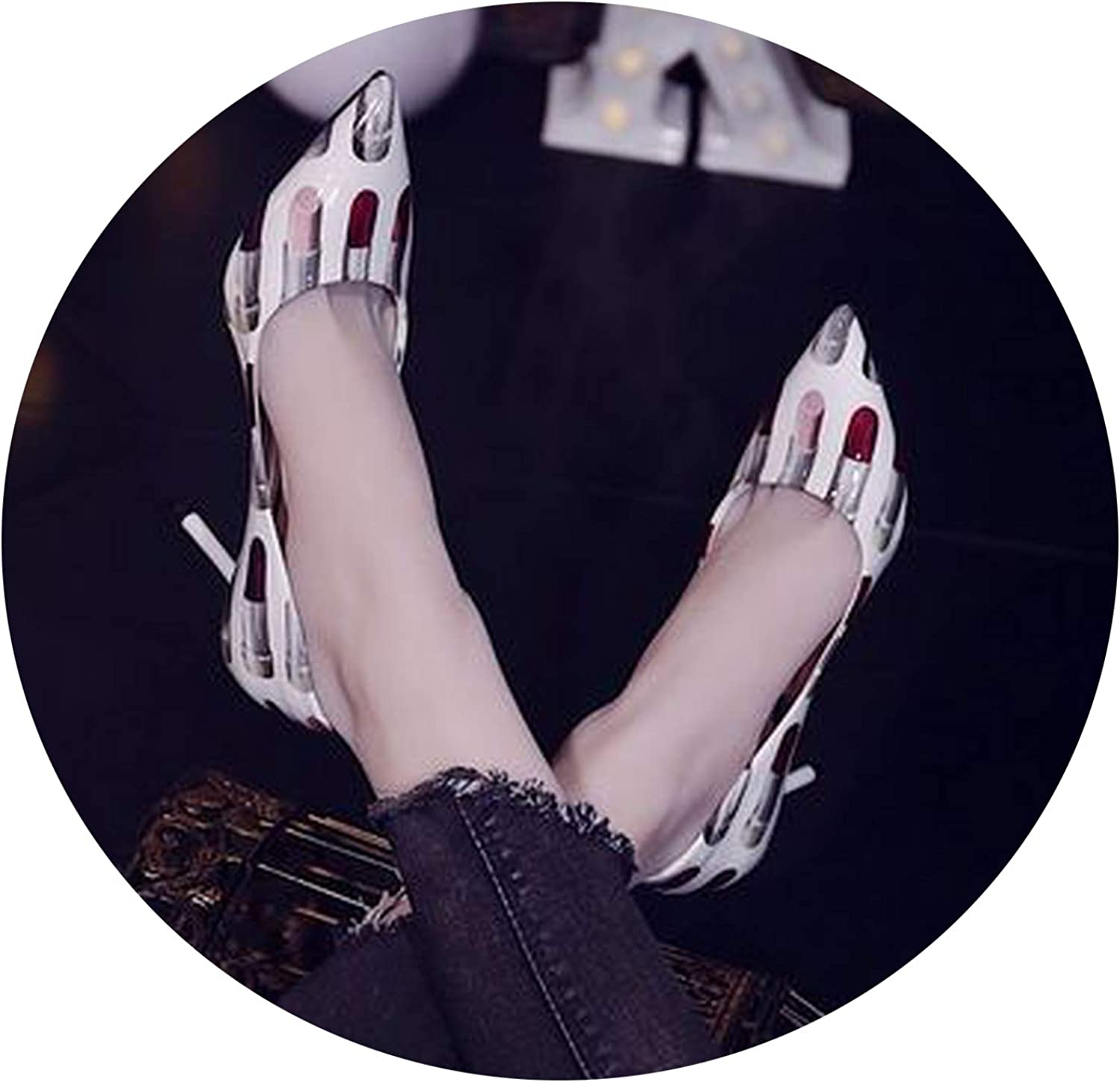 Sunny Doll Europe Fashion 2019 Spring New Ladies shoes fine with net red high Heels Women's