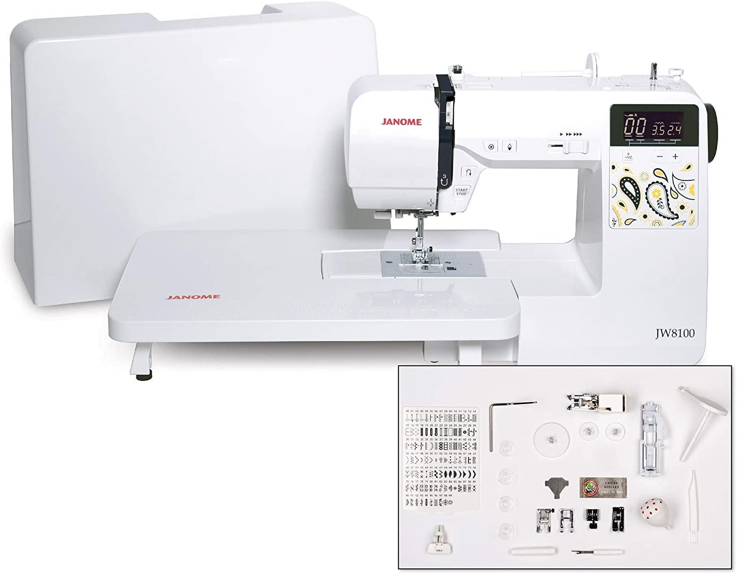 Portland Mall Janome JW8100 Fully-Featured Computerized with Sewing Machine 10 free