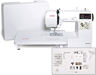 Janome JW8100 Fully-Featured Computerized Sewing Machine with 100 Stitches, 7 Buttonholes, Hard Cover, Extension Table and...