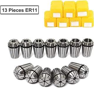 ER11 Collet Set, 13PCS ER11 Collet Chuck CNC Spindle ER-11 Collet Lathe Tool Holder From 7MM for CNC Milling Lather
