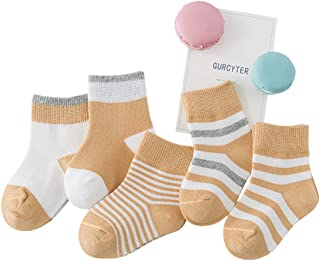 Baby Girls/Boys Cotton Crew Socks,5 Pack