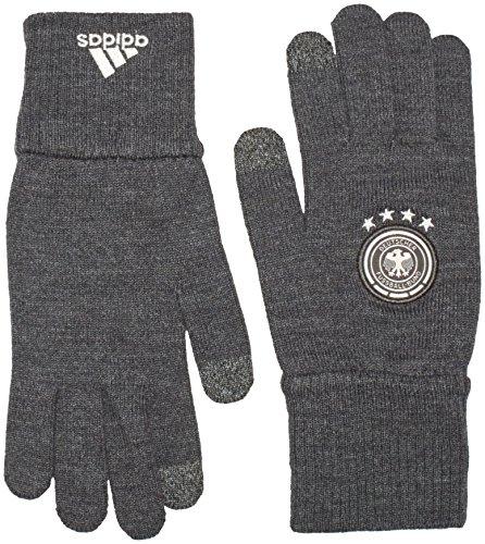 adidas Herren Handschuhe DFB Fußball Torwarthandschuh, Dark Grey Heather/Off White, M
