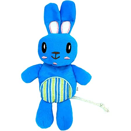 Goofy Tails Babypet Skinny Rabbit Soft Squeaky Dog Toys   Plush Toy for Puppy & Stuffed Toy for Dogs (Small Breeds)   Teething Toy for Puppies   Length : 21cm (Color May Vary)
