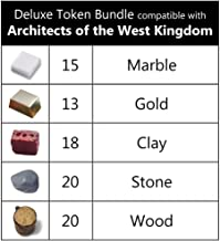 Deluxe Token Bundle Compatible with Architects of The West Kingdom (Set of 86)