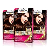 Palette Intense Cream Coloration Intensive Coloración del Cabello 3.65 Castaño Chocolate - Pack de 3