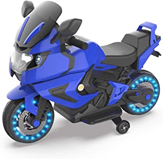 HOVER HEART Kids Electric Power Motorcycle 6V Ride On Bike Blue