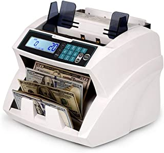 CHUXJ Bill Counter Multi-Currency Mixed Denomination Count Automatic Counting Machine LCD Display with UV MG IR Counterfei...