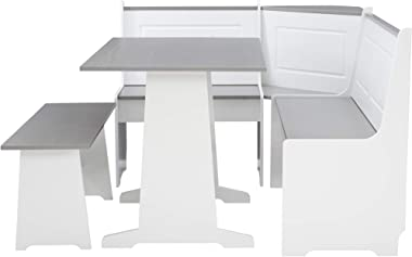 Linon Grey and White Breakfast Dining Set Ardmore Nook