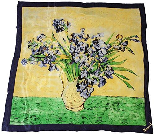 Artis Vivendi doek zijdedoek V. Gogh - Iris in vaas 100 x 100 cm