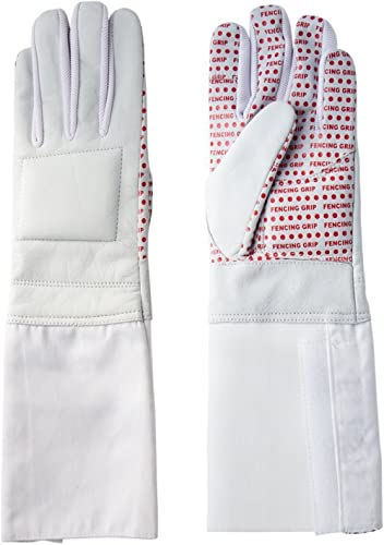 Pro-Style Dual Layer Padded Fencing Glove - Washable Fencing Glove w/Anti-Slip Coating, Internal Seams - Approved for...