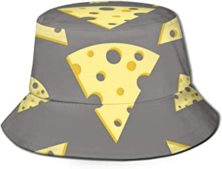 Trushop Unisex Bucket Hat Fisherman Hat Cap Food Cheese Cartoon para la Pesca Fisherman Beach Gorras para Hombres Mujeres