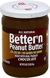 Better N Peanut Butter, Chocolate Peanut Butter, 16 Ounce (Pack of 6)