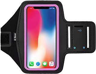 i2 Gear Armband Compatible with iPhone Xs, X, Samsung Galaxy S10, S9, S8, Google Pixel 2,..