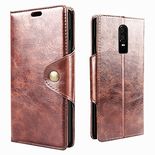 RIFFUE Cover OnePlus 6, Custodia OnePlus 6 [Premium Portafoglio] Pelle Libro Flip Caso con Porta Carte Funzione Appoggio e Fibbia...