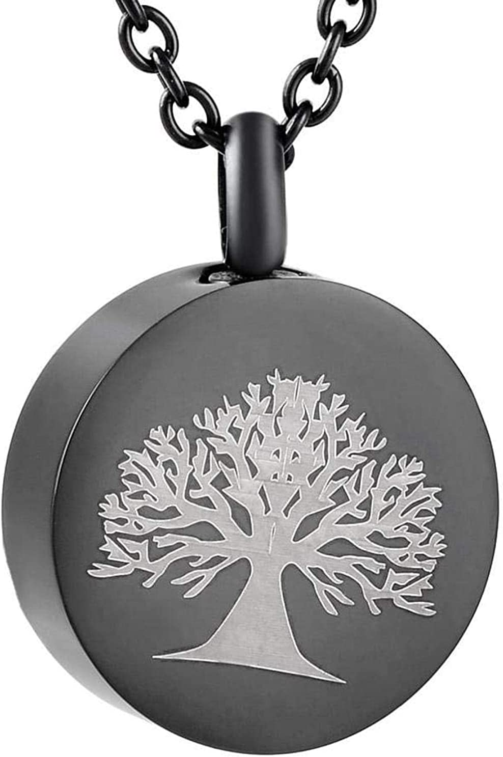 Ashes Memorial Ashes Chain Ashes Necklace Tree of Life Stainless Steel Ash Necklace Men/Pet Jewelry Memorial Jewelry Pendant