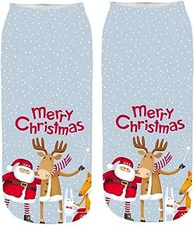 Christmas Women Socks Crew Santa Elk Print Crazy Casual Sports Home Socks For Girls Xmas Novelty Gifts