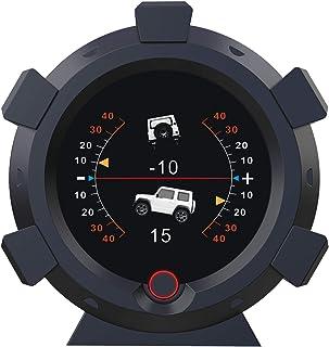AUTOOL Car Angle GPS Slope Meter Car Inclinometer Level Tilt Gauge with Car HUD Speedometer MPH KMH for DC5-28V Off-Road a...