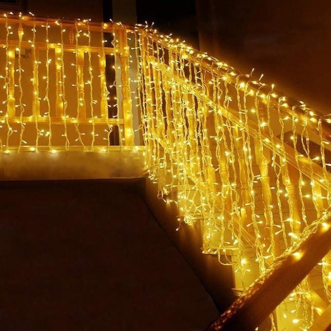 542 opinioni per MOVEONSTEP catena luminosa 300 Led 33m corda leggera bianca 8 modalità
