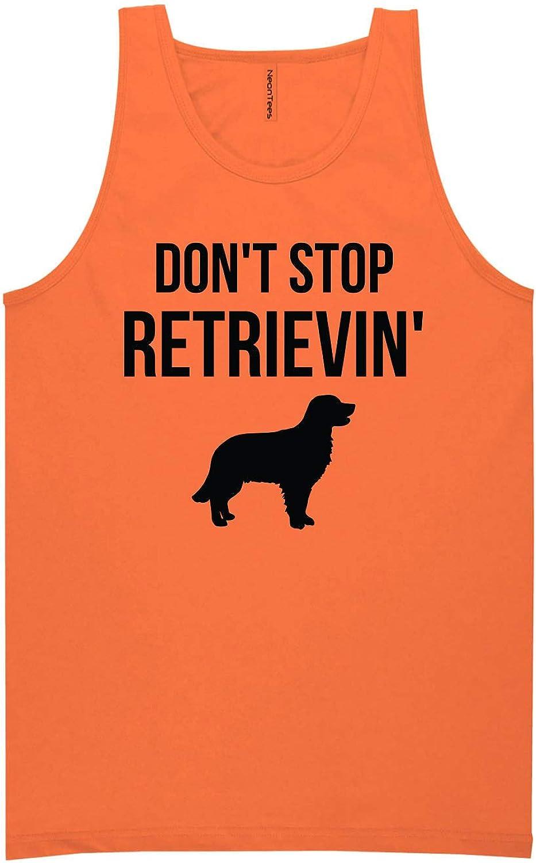 zerogravitee Don't Stop Retrievin' Neon Orange Tank Top - XX-Large