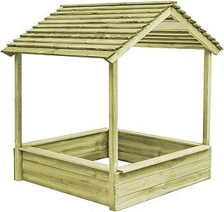 VidaXL Kiefer Impragniert Spielhaus Sandkasten Sandbox Gartenhaus Holzhaus