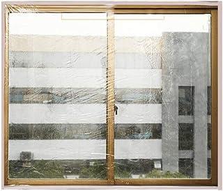 Lona, Película de Aislamiento para Ventanas de Invierno Película de EVA sellada contra el Viento Protección contra el frío Dormitorio, 15 tamaños (Color: Negro, Tamaño: 160x220cm)