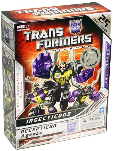 Insecticons Exclusive Transformers Universe 25th Annaversary Action Figure by Transformers