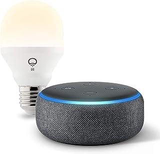 Echo Dot (3rd Gen) Charcoal Bundle with LIFX Wi-Fi Smart Bulb