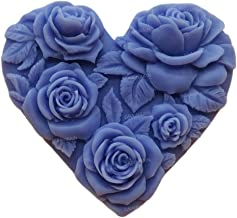 Rose Flowers Heart Shaped White DIY Craft Art Handmade Soap Making Molds Flexible Soap Mold Silicone Soap Mould Soap