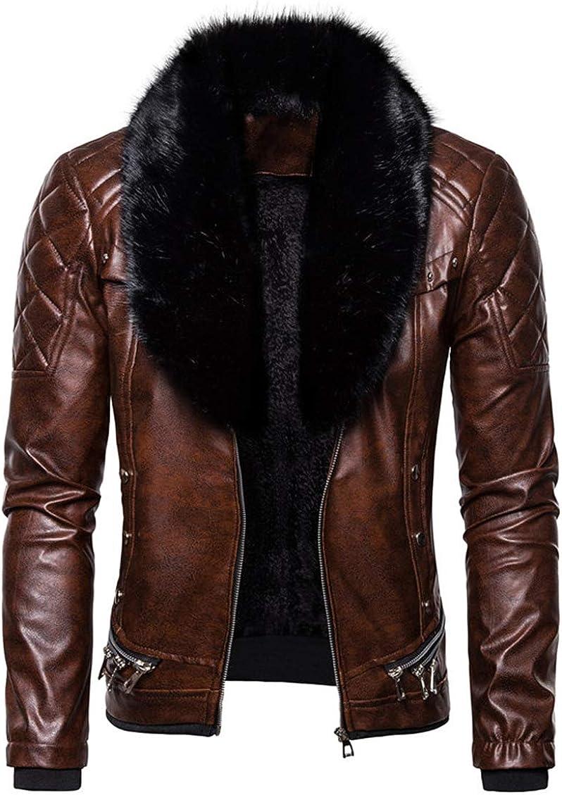 Boston Mall chouyatou Men's Removable Fur Collar Ranking TOP19 Faux Steampunk Sherpa Lined