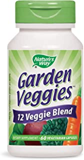 Nature's Way Garden Veggies, 12 veggie blend, 60 vegetarian capsules
