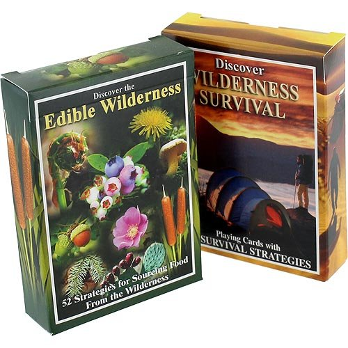 Sea To Sky 2-Pack Edible Wilderness and Wilderness Survival Playing Cards