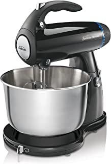 Sunbeam 2594 350-Watt MixMaster Stand Mixer with Dough Hooks and Beaters, Black