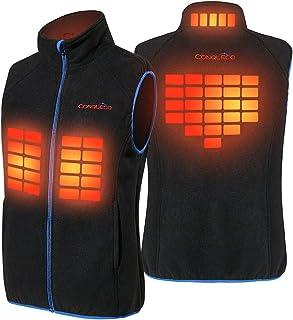 comprar comparacion CONQUECO Hombre Chaleco Calefacción térmico eléctrico Chaqueta de Invierno con batería para Actividades al Aire Libre en c...