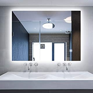 Alice LED Backlit Mirror Illuminated Bathroom Mirror with Dimmable Anti-Fog Function and Touch Button (LED-36''x28'')