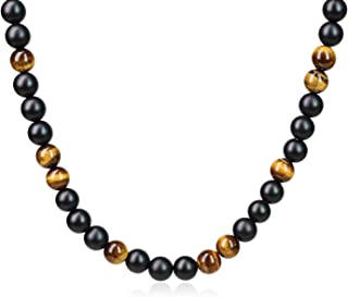 Onyx and Tiger's Eye Beaded Necklace