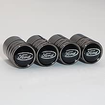 US85 Ford Black Chrome Auto Car Wheel Tire Air Valve Caps Stem Cover