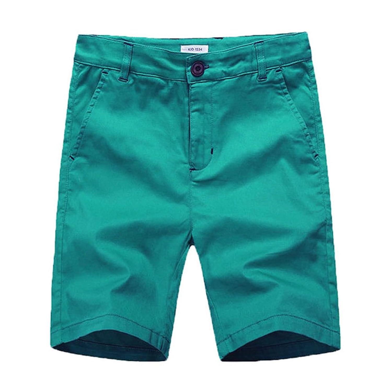 KID1234 男児用 あや織ショーツ ウェスト調整可能 カジュアル 4つのポケット