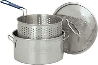 Bayou Classic 1150, 14-Qt. Stainless Deep Fryer, Perforated Basket with Cool Touch Handle