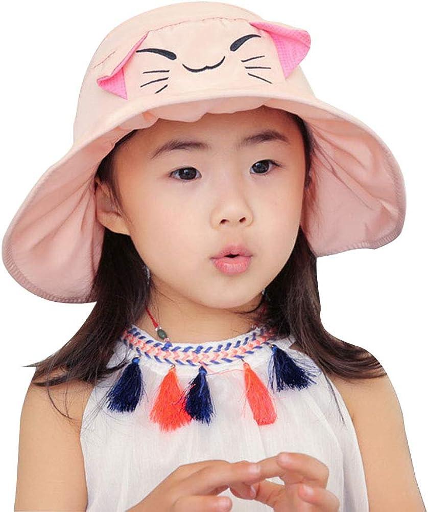 Kids Girls Manufacturer direct delivery Wide Brim Visor Beach Sun Protection Foldable Japan's largest assortment Hat