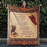 ZONEAGLE Firefighter Blanket, Rescue Squad Gift, Blanket for Volunteer Firefighter, Fire Prevention, Fireman's Prayer Blanket, When I Am Called to Duty, Crib/Throw/Queen Size