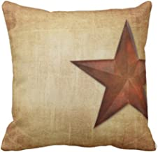 Emvency Throw Pillow Cover Customizable Rustic Barn Graphic Western Texas Worn Templates Decorative Pillow Case Home Decor Square 18x18 Inch Pillowcase