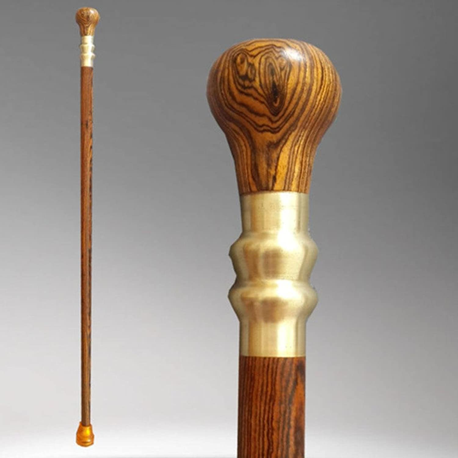 Wooden Walking   Hiking Stick with Hand-Carved Deer Design 87cm Health Round Handle Wood Cane Natural