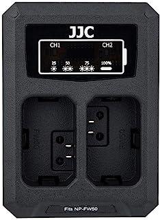 JJC Cargador de Batería Dual USB para Sony NEX Alpha A6500 A6400 A6300 A6000 etc. Cámaras Reemplaza Sony NP-FW50